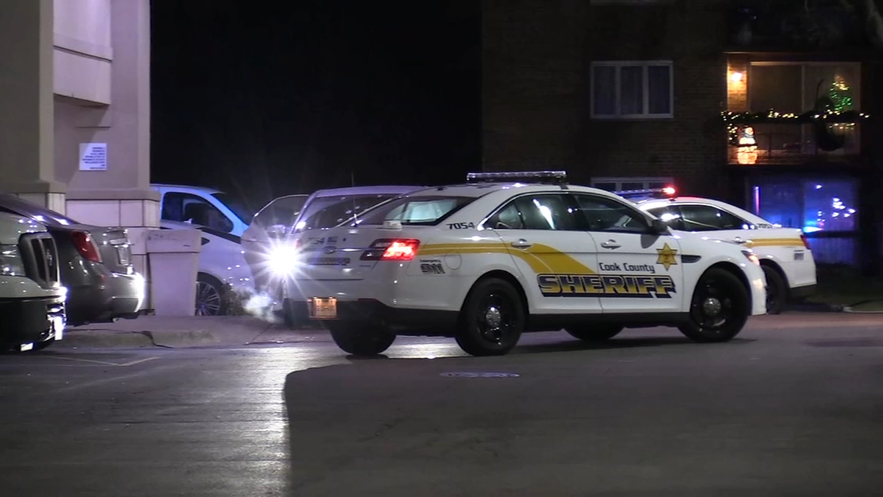 Police in southsuburban Crestwood are investigating after a car was found riddled with bullets outside a hotel.