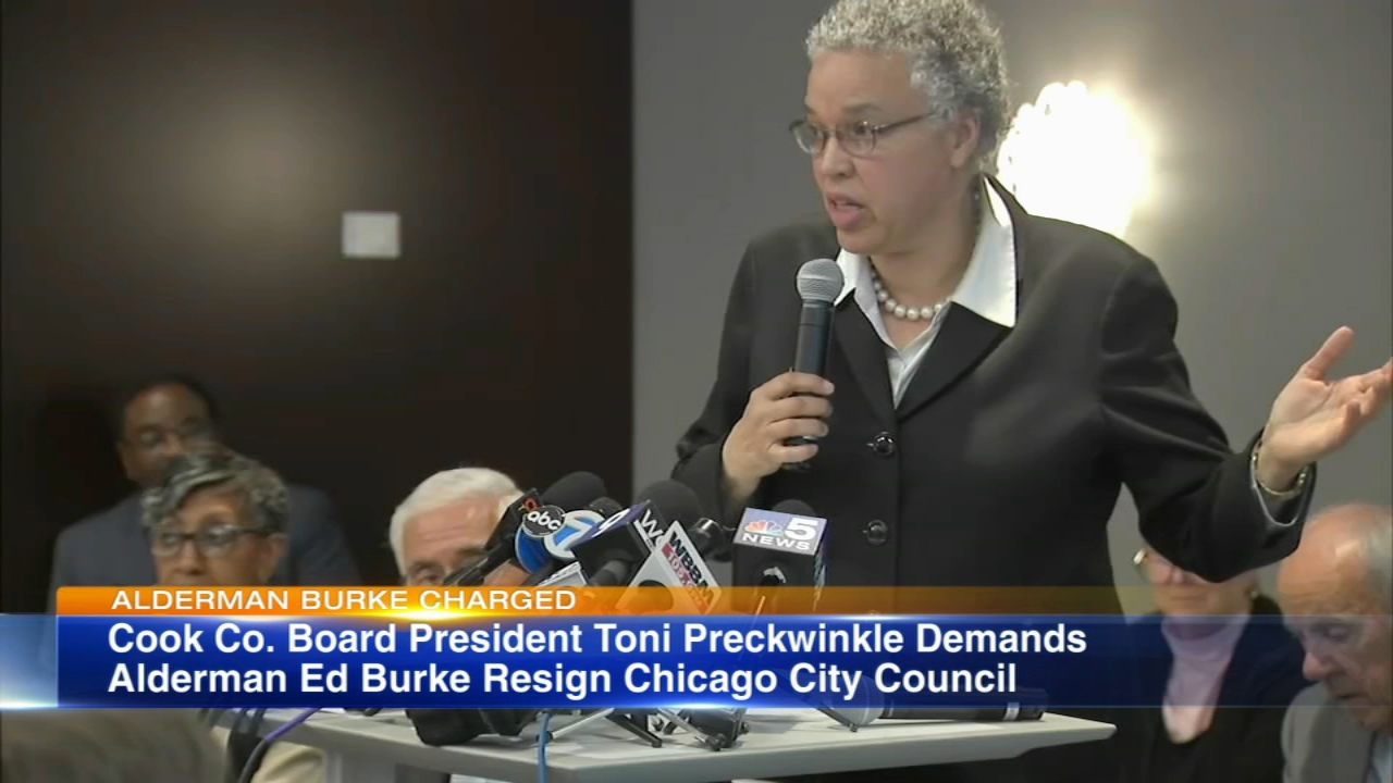 Cook County Board President Toni Preckwinkle is taking a stand against Alderman Ed Burke.