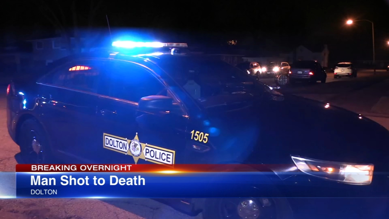 A man was shot to death in south suburban Dolton Monday night.