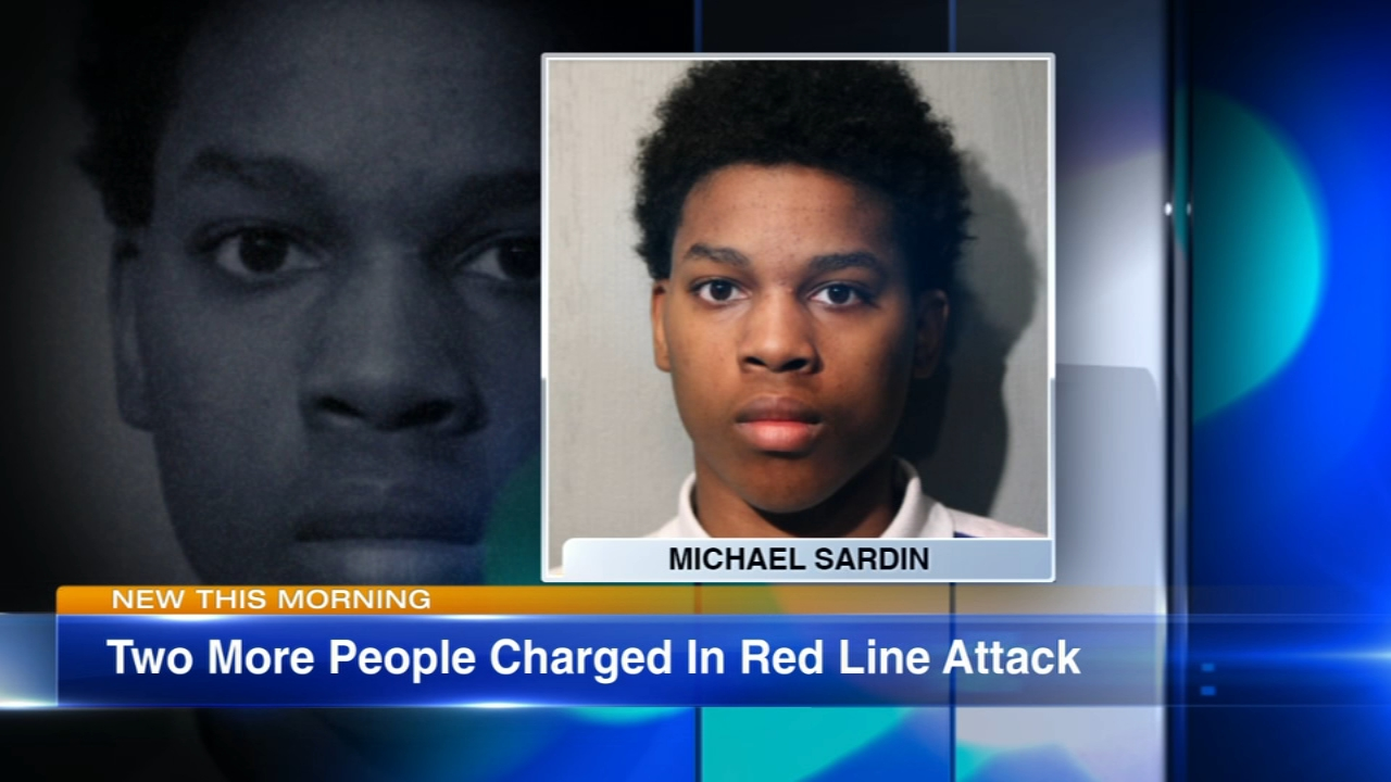 Two more people have been charged in attack on three passengers at a CTA Red Line station.