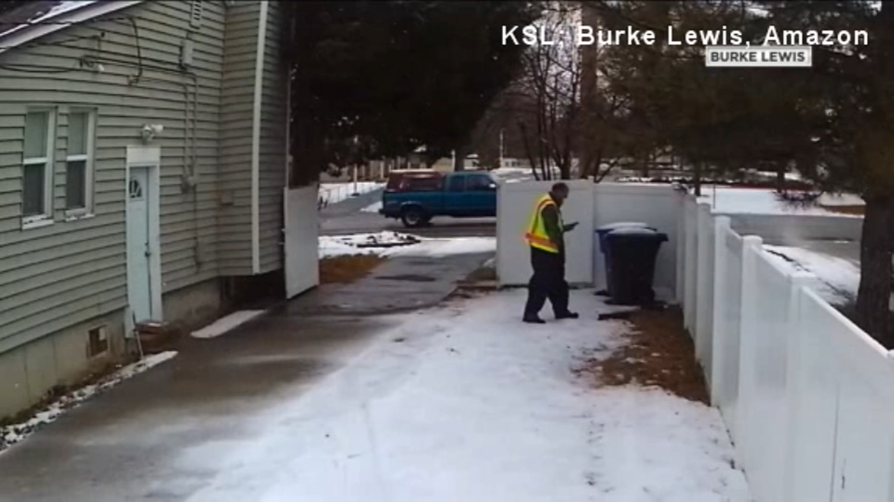 A man in South Salt Lake was left bewildered and amused after a person delivering packages for Amazon left more than just a package to his home.