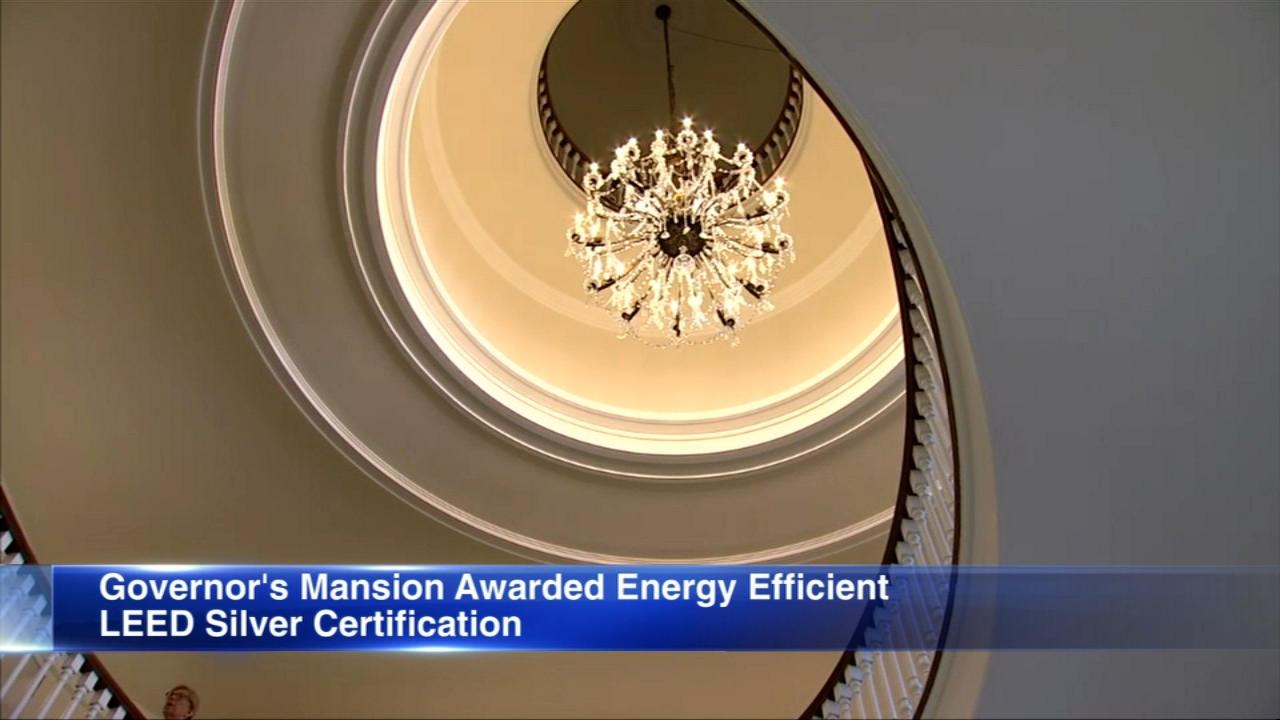 The Illinois Governor's Mansion was awared a LEED certification from the U.S. Green Building Council.