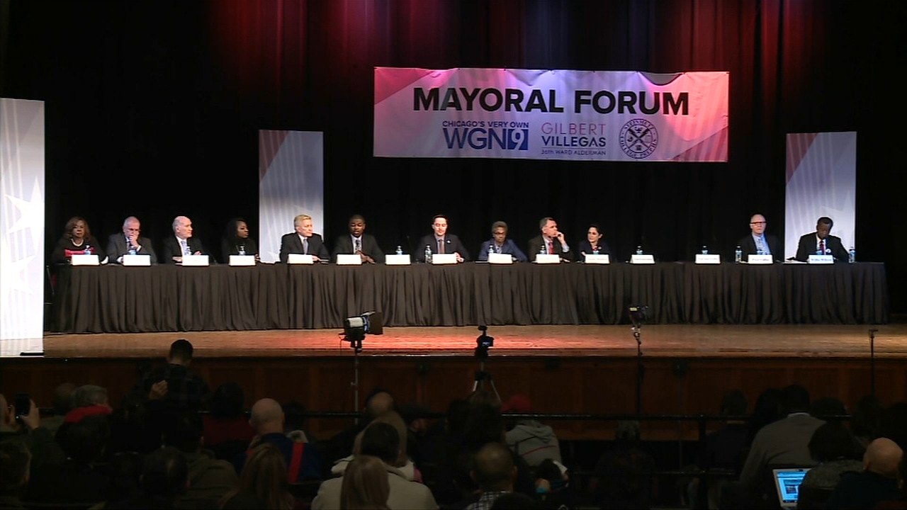 Thirteen candidates for Chicago mayor took part in a forum at Steinmetz College Prep on the citys northwest side Thursday night. One was noticeably absent.