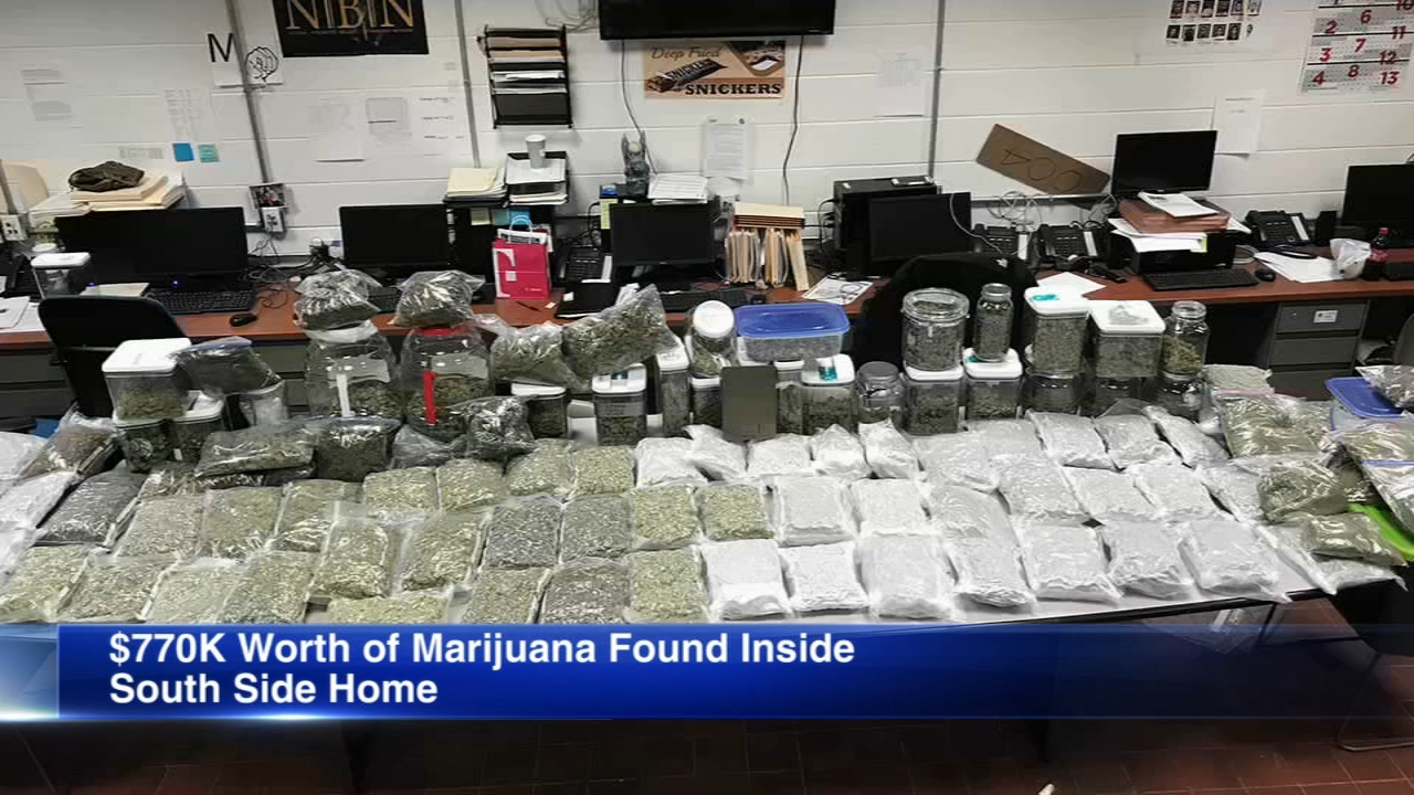 A man is facing felony drug charges after police seized more than three quarters of a million dollars worth of marijuana Wednesday in the Calumet Heights neighborhood on the South