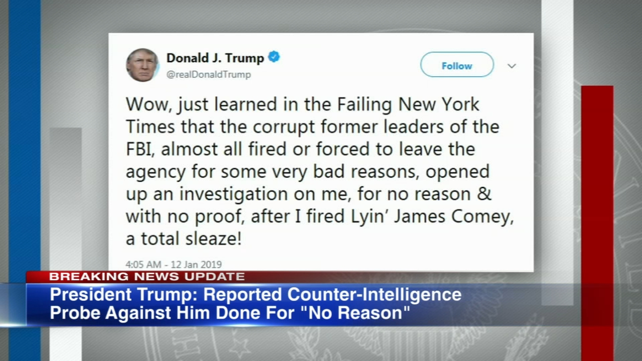 New York Times reports that law enforcement officials became so concerned by President Donald Trumps behavior in the days after he fired FBI Director James Comey that they began i