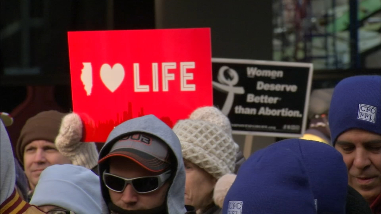 Thousands gathered on Sunday to protest abortion as part of the March for Life event in Chicago and across the United States.