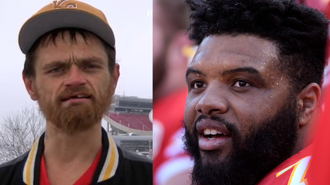 A good Samaritan helped Kansas City Chiefs player Jeff Allen when he was stuck in the snow.