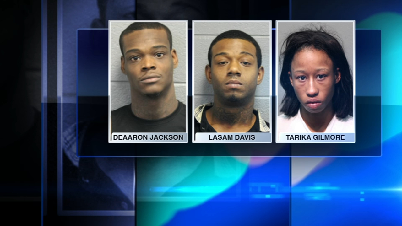 Three people have been charged with robbing a DePaul University student at gunpoint last week, Chicago police said Monday.
