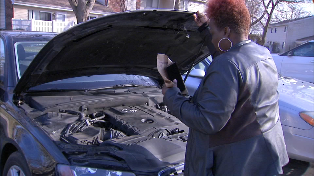 A local woman ended up towing her car away from her mechanic after a dispute over an expensive engine got heated.