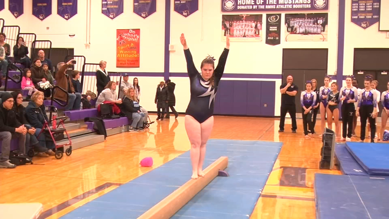 Mixed in with dozens of gymnastics routines at Rolling Meadows High School on the bars, floor and vault Tuesday night, one moment on beam stood out.