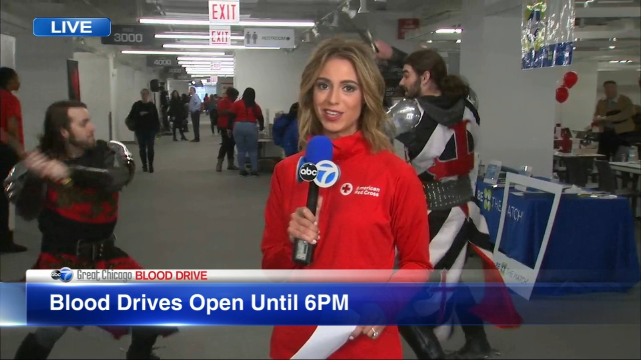 Medieval Times joins ABC7 at the Great Chicago Blood Drive.