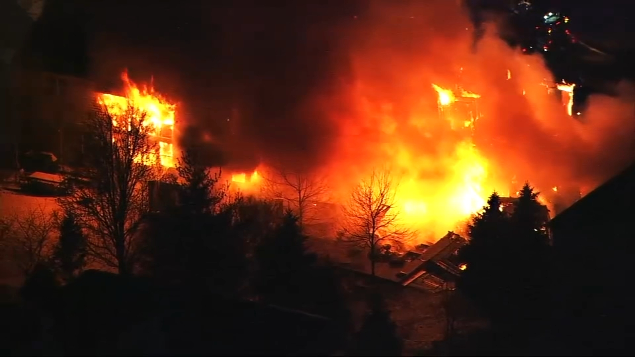 A fire broke out Wednesday morning in the 2500 block of Melanie Lane in north suburban Northbrook.