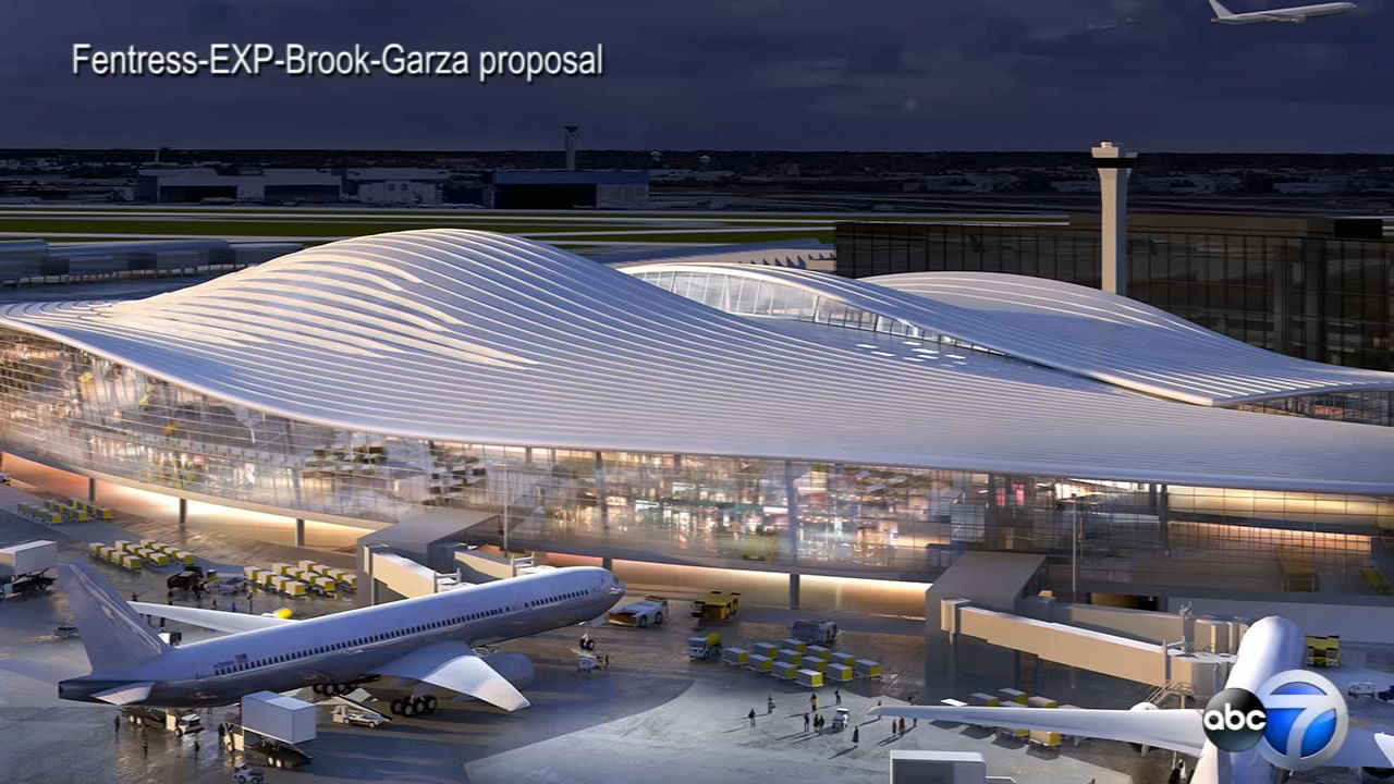 The first look at the five proposals for the OHare International Airport expansion from top architectural firms. The city reveals full proposals Thursday.