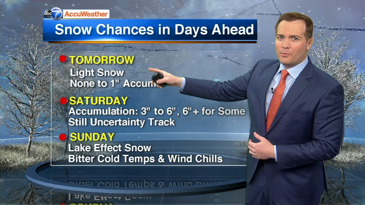 A weekend snow storm is expected to bring several inches of snow and cold temps.