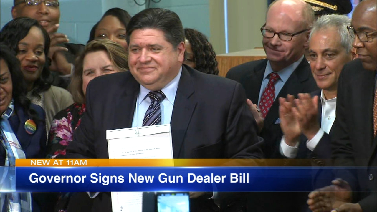 Governor JB Pritzker signed a bill into law Thursday that requires gun dealers to be licensed.