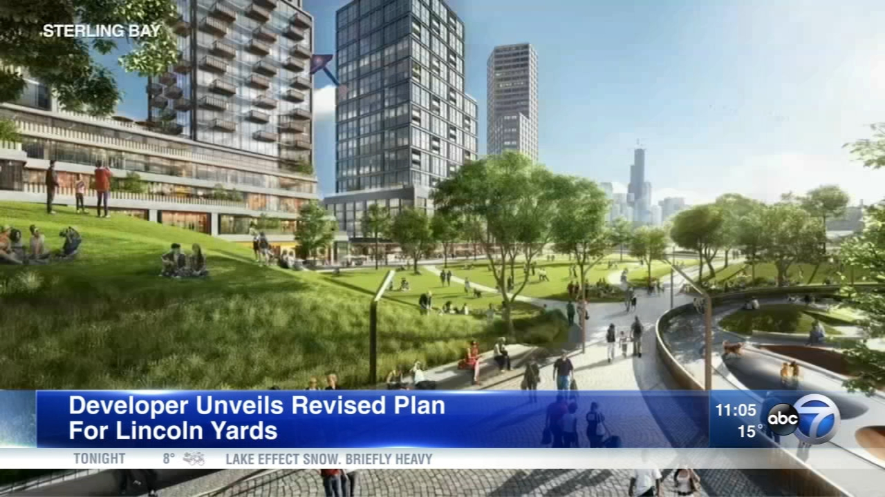 Sterling Bay released revised plans for the Lincoln Yards project along the Chicago River.