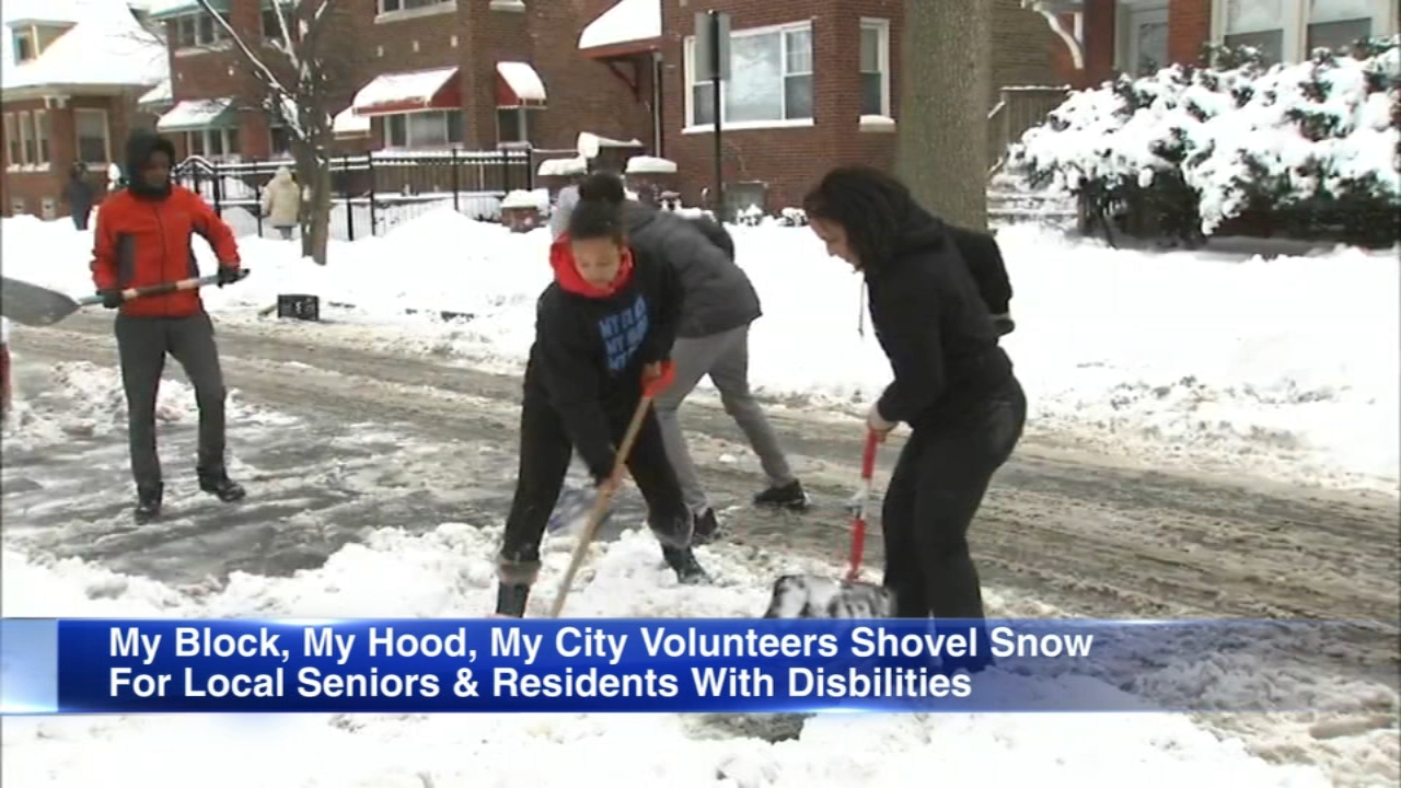 Volunteers from My Block, My Hood, My City will offer volunteeer snow removal for seniors and residents with disabilities.