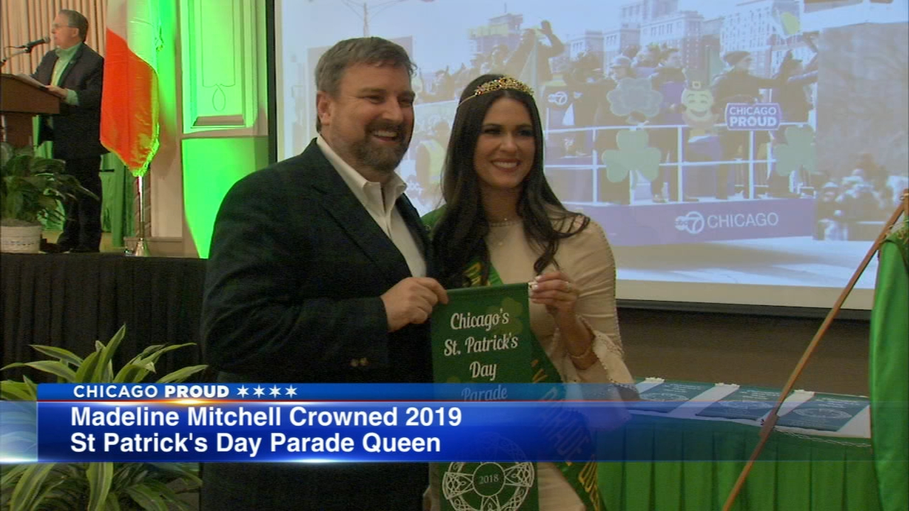 Madeline Mitchell, 25, of Chicago, was named the 2019 St. Patricks Day Parade queen.