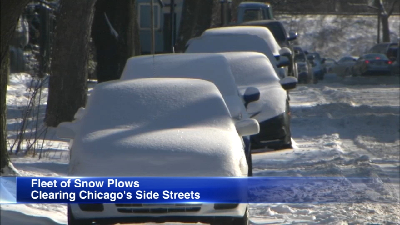 Chicago Streets and Sanitation trucks got going early, over 200 trucks are loading up with salt and tackling the side streets across Chicago.