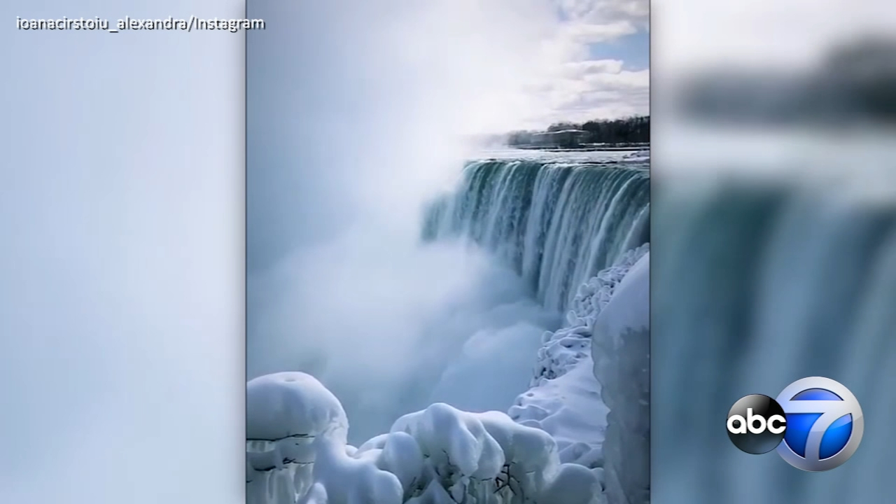 Its so cold, parts of Niagara Falls are frozen.