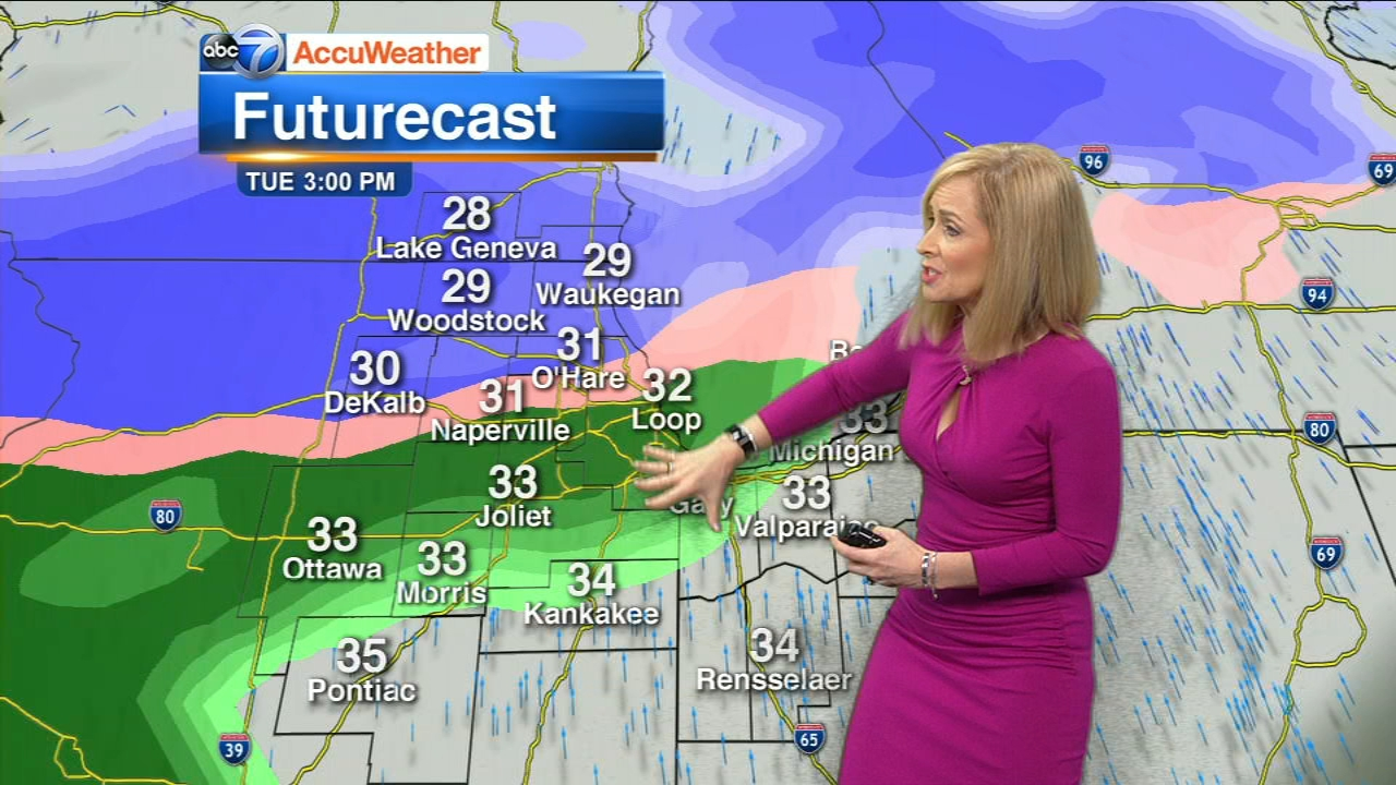 Tracy Butler has the latest on the storm expected to move through the Chicago area Tuesday afternoon.