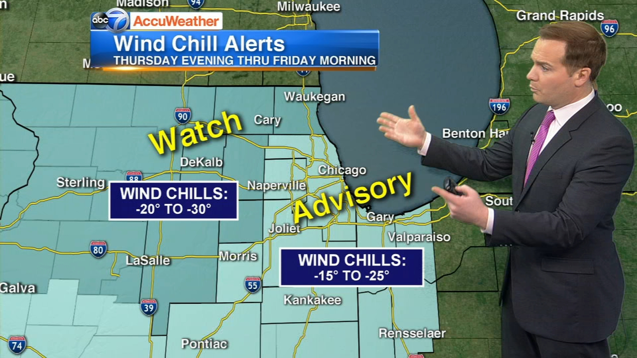 Bitter cold will move into the Chicago area for the rest of the week.