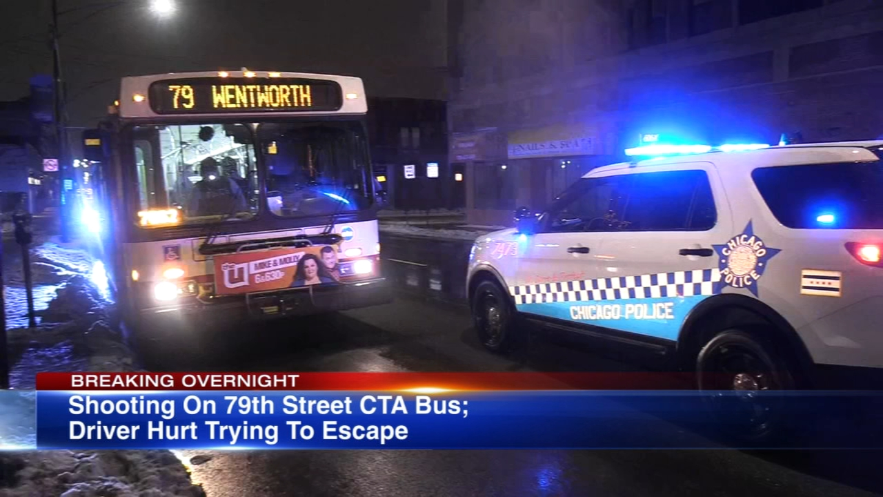 Gunshots were fired in a CTA bus after an altercation between two men in the Chatham neighborhood Tuesday night, Chicago police said.