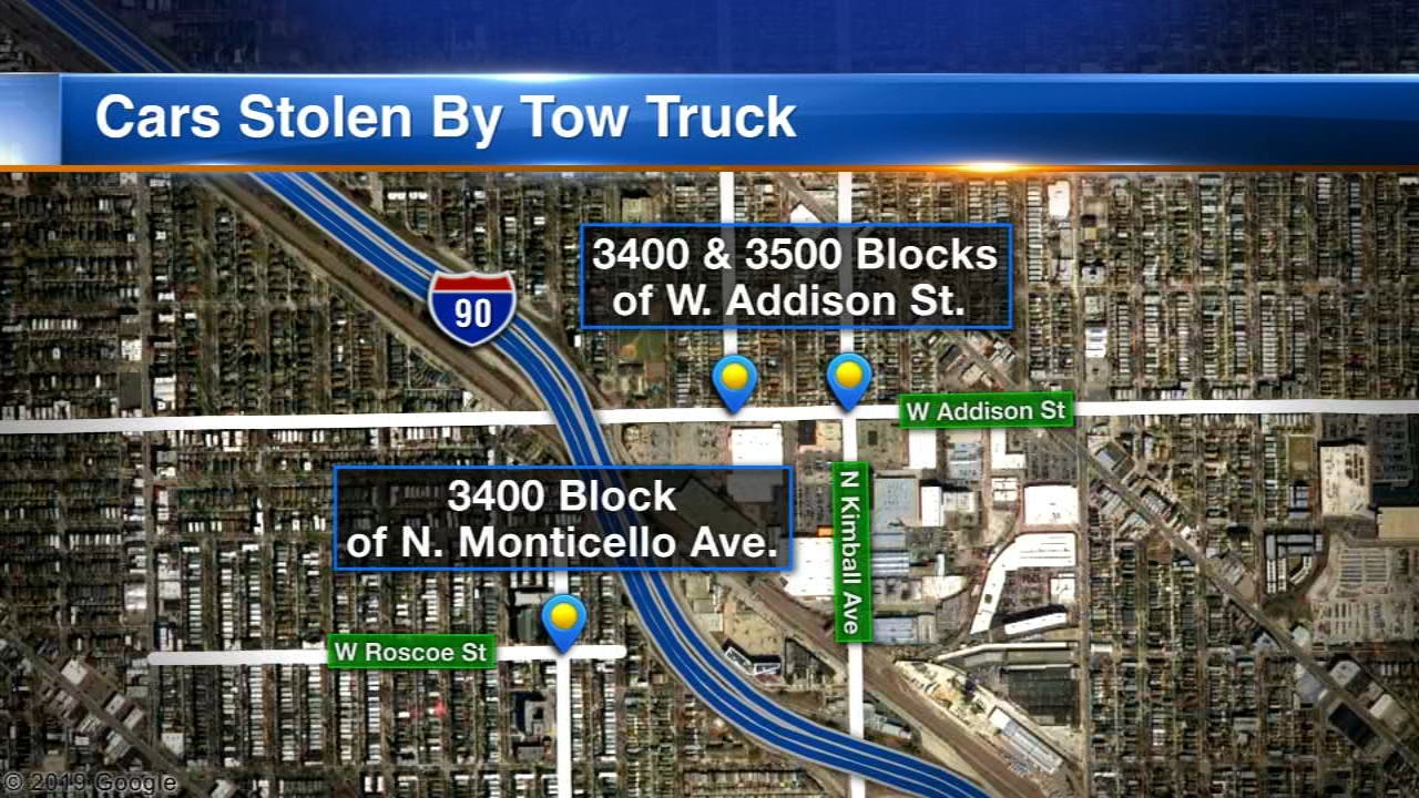 Chicago police have issued an alert about cars being stolen in the Avondale neighborhood and a tow truck may be responsible.
