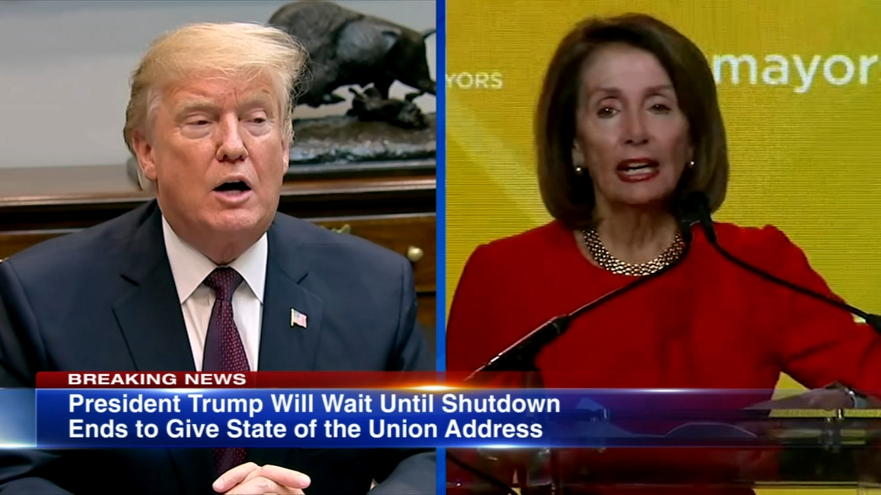 President Donald Trump tweeted that he would delay his State of the Union address until after the government shutdown is over, following a standoff with House Speaker Nancy Pelosi.