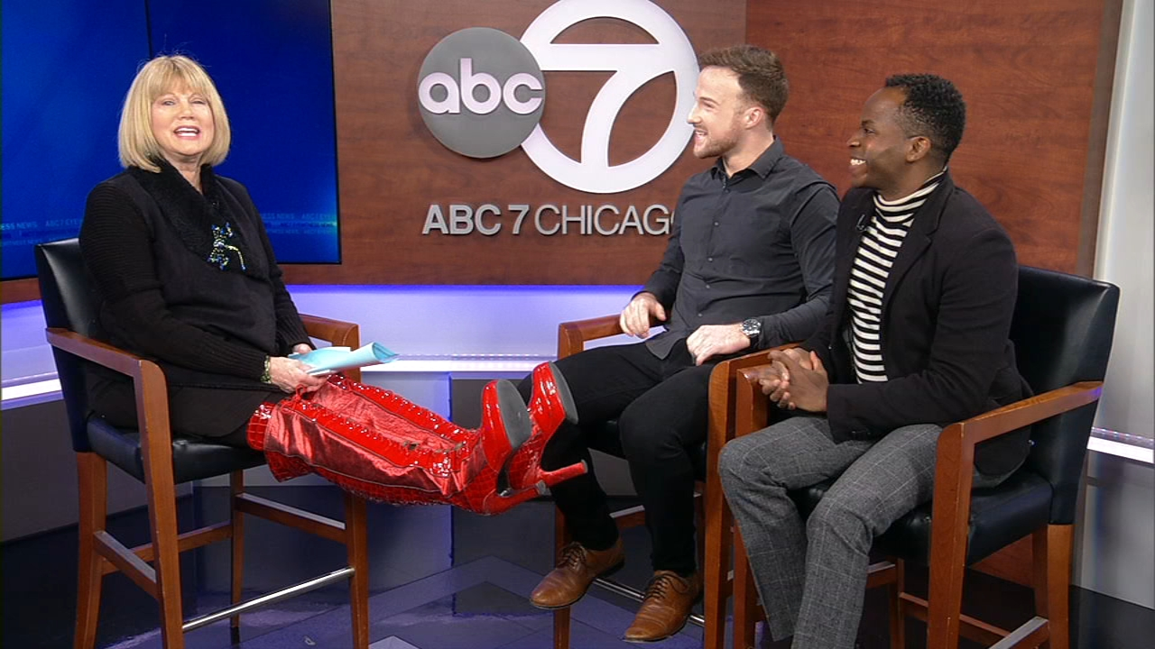 The award-winning musical Kinky Boots is running now through Sunday, Jan. 27, at Broadway in Chicagos Cadillac Palace Theatre. Actors Connor Allston, who plays Charlie Price,