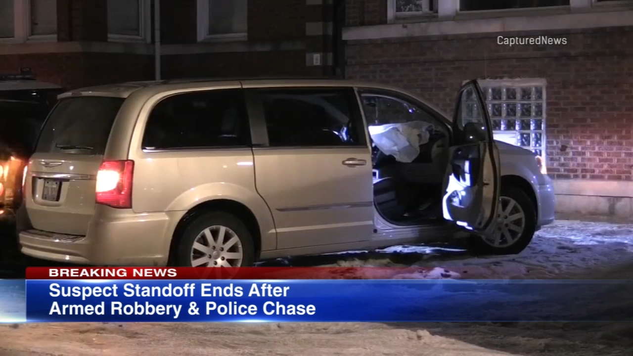 Two suspects in an armed robbery in Lakeview were taken into custody in Englewood after a police chase Thursday morning.