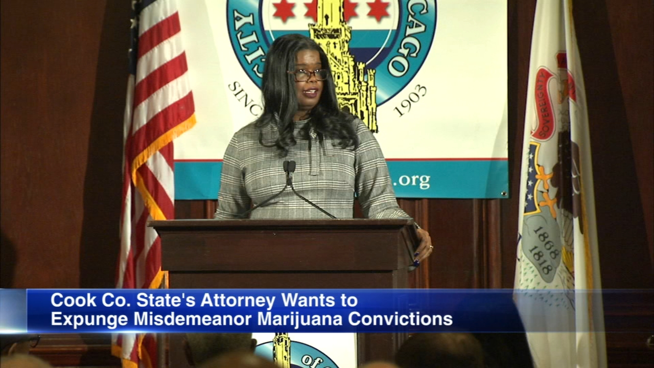 Cook County States Attorney Kim Foxx says she supports legalizing marijuana in Illinois and that her office will help expunge misdemeanor marijuana convictions.