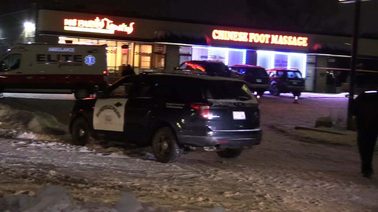 A man who police said was armed with a gun was shot by an officer in west suburban Naperville Wednesday night.