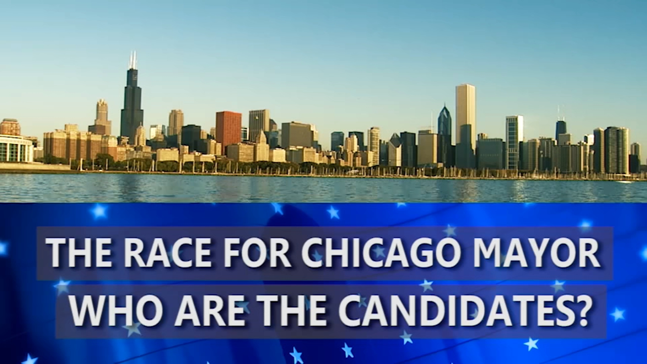 Who are the candidates in the race for Chicago mayor?