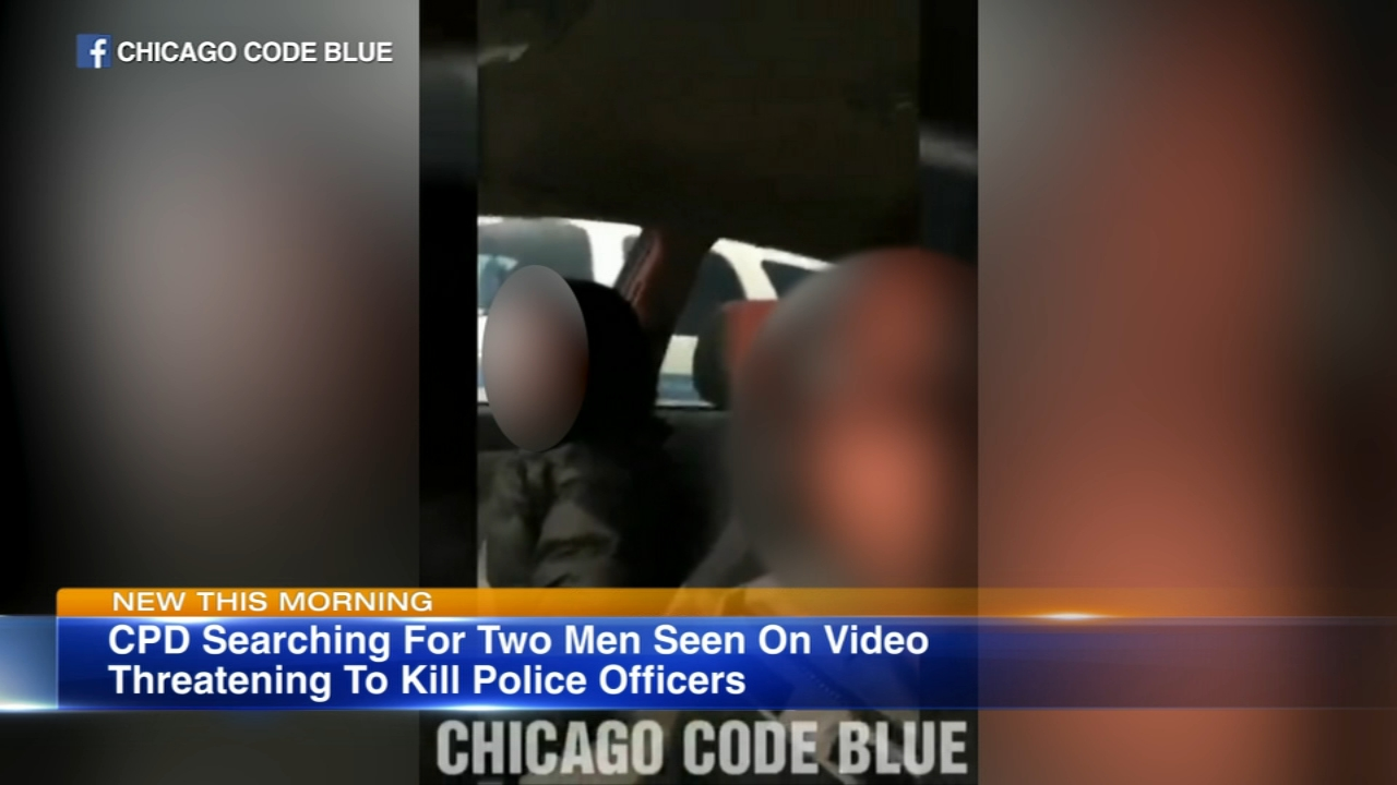 A video making the rounds on Facebook shows two men threatening CPD officers.