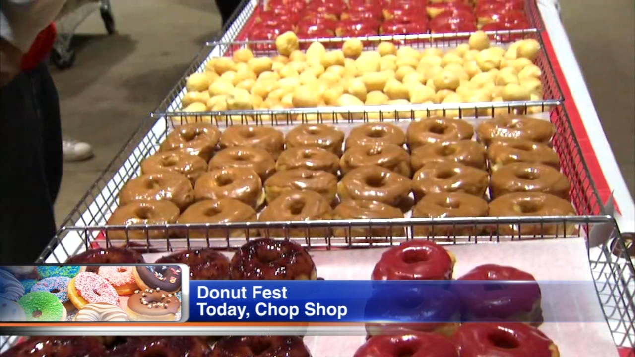 Donut Fest Chicago features donuts from Firecakes, Stans Donuts, Gurnee Donuts, West Town Bakery, Longman and Eagle, D&Ds Place, GBD Cakes and Sweets, Downstate Donuts, Roesers Bake