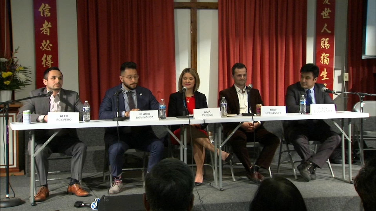 The five candidates running to replace 25th Ward Alderman Danny Solis were all at a forum Monday night.