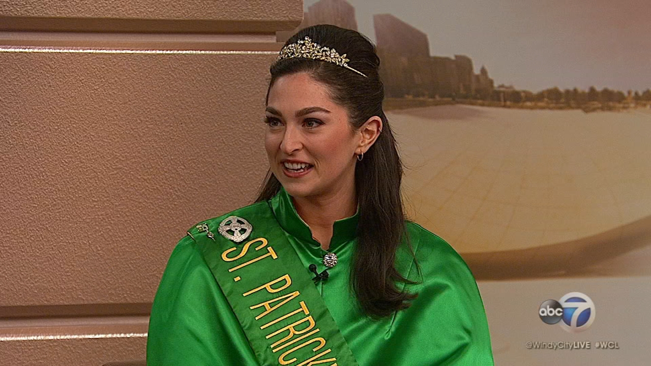 Madeline Mitchell is queen of the 2019 Chicago St. Patricks Day Parade.