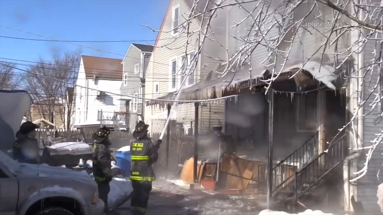 Two people were killed in a house fire in the Back of the Yards neighborhood Wednesday morning, the Chicago Fire Department said.