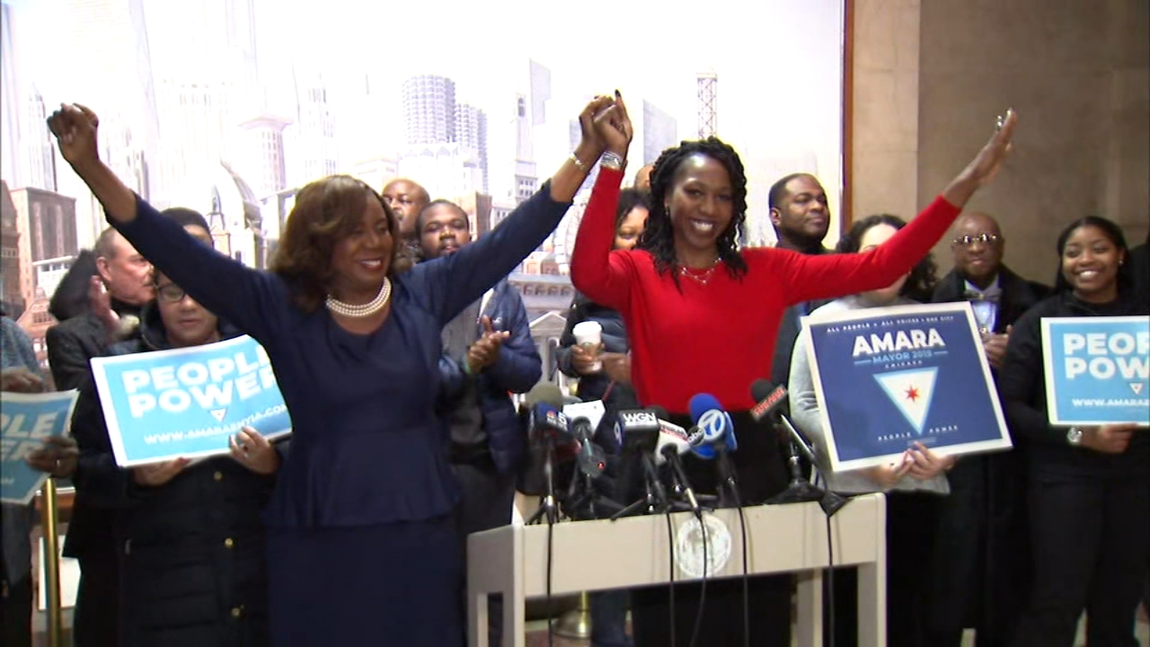 Former mayoral candidate Dorothy Brown, the Clerk of the Cook County Circuit Court, has thrown her support behind Amara Enyia.
