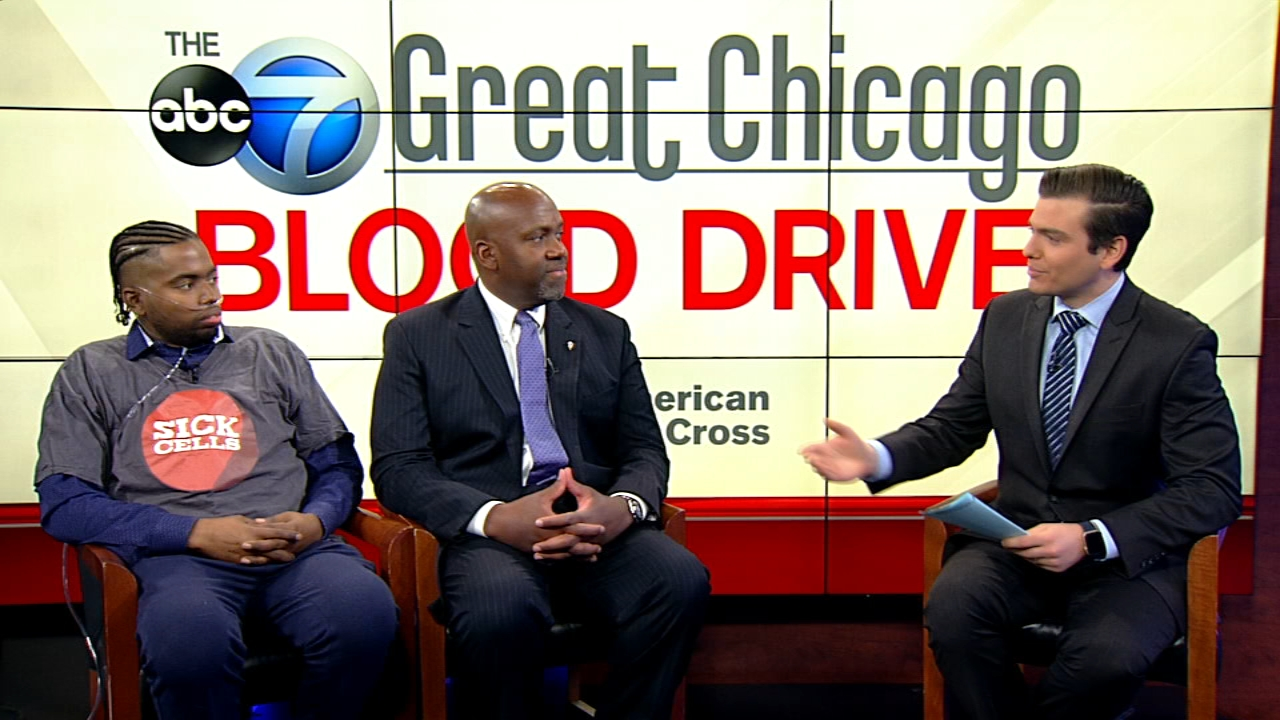 Dr. A. Kyle Mack and sickle cell patient Marqus Valentine joined ABC7 to talk about the importance of donating blood.