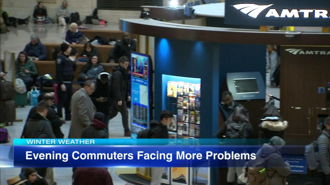 Metra and Amtrak travelers ran into long delays Friday evening.