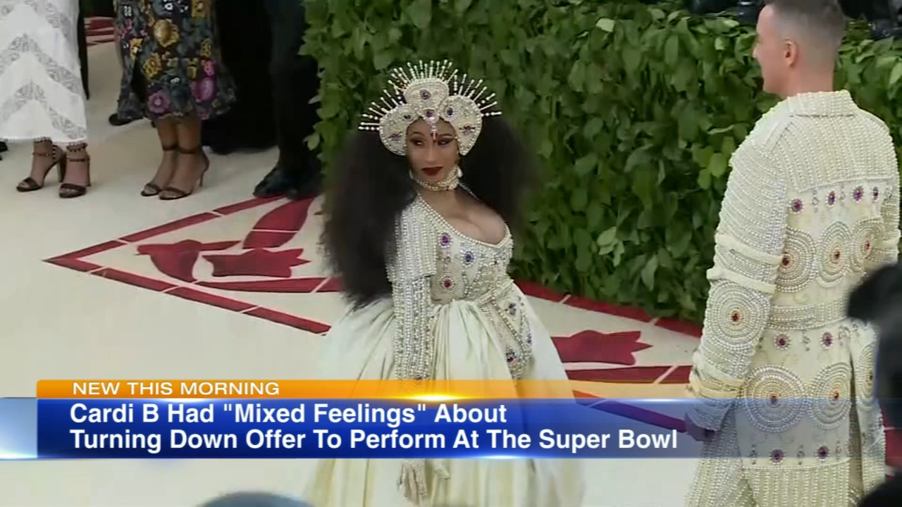 Rapper Cardi B has decided not to perform at the Super Bowl LIII halftime show.
