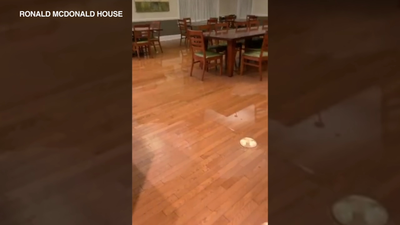A pipe burst Sunday night at the Ronald McDonald House in Chicago.
