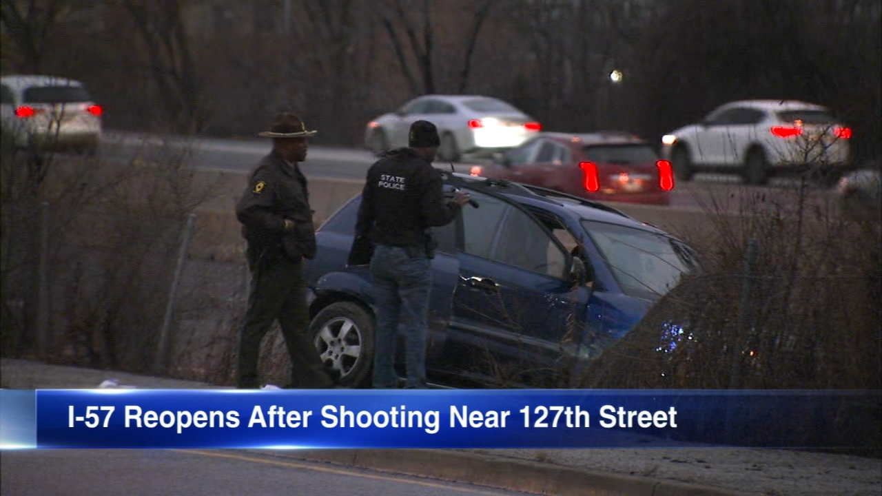 Two boys and a 38-year-old man were shot on I-57 while driving northbound, police said.