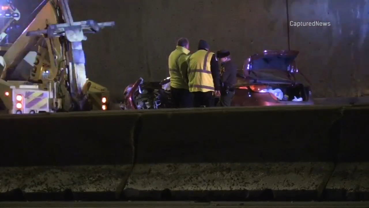 A man has died after police said he rear-ended an IDOT truck on the Stevenson Expressway Monday morning.