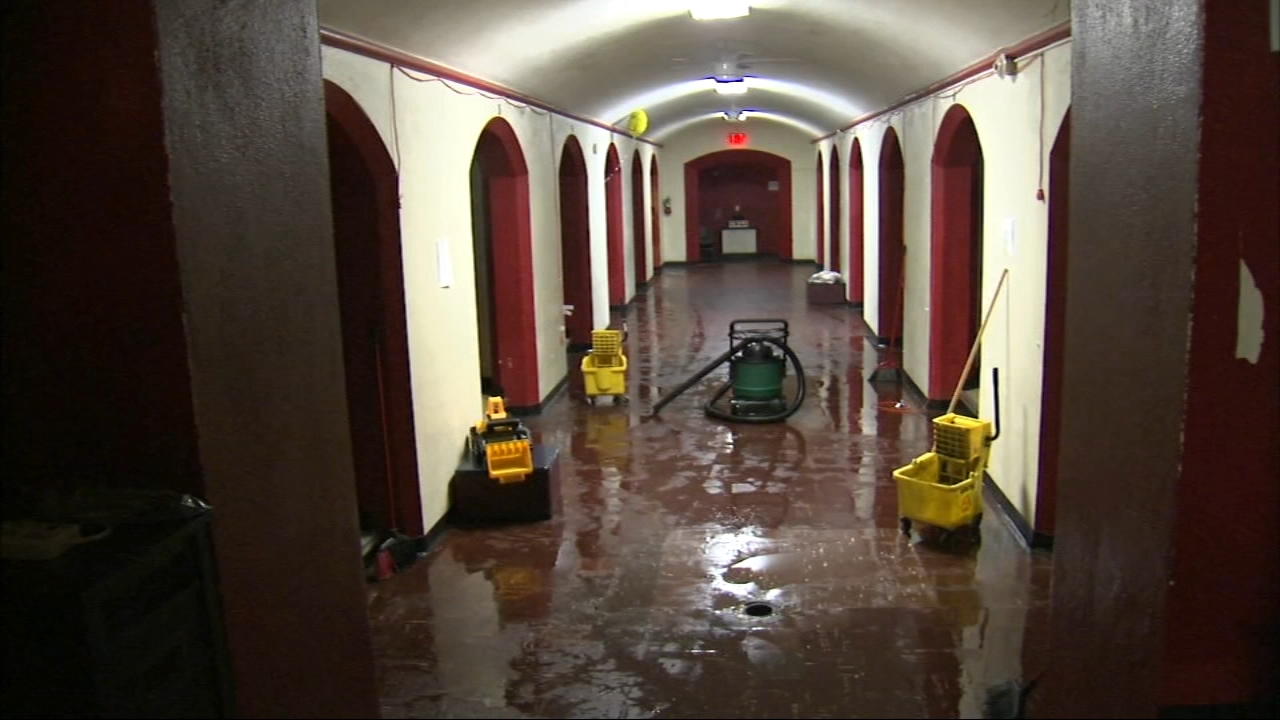 Four pipes burst at Olive Branch Mission in Chicago's Englewood neighborhood, which helps homeless people, following the extremely cold temps last week.