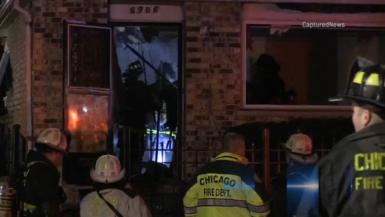 A gas leak is apparently responsible for a fire early Tuesday in the South Side Englewood neighborhood.