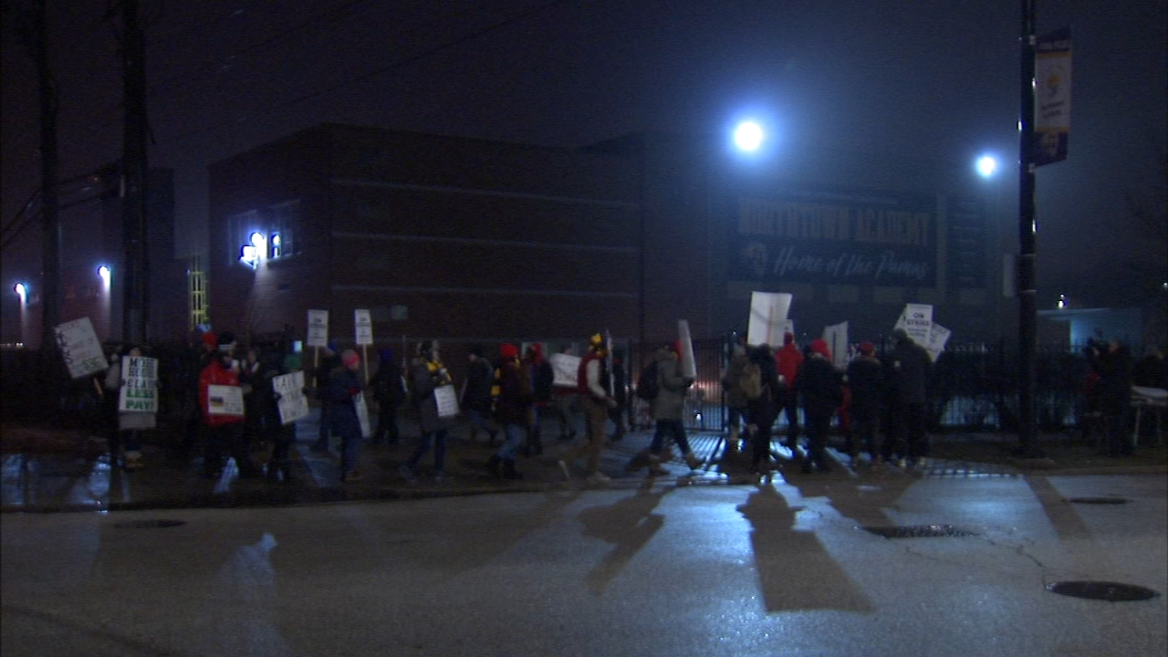 A teacher strike at four Chicago charter schools operated by CICS is set to continue for a third day Thursday, but the union says progress is being made.