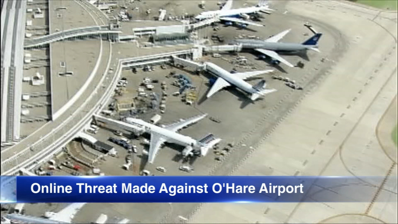 Authorities are investigating an online threat against OHare Airport.